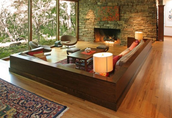 Sunken Living Room Designs: The Perfect Conversation Pits 19