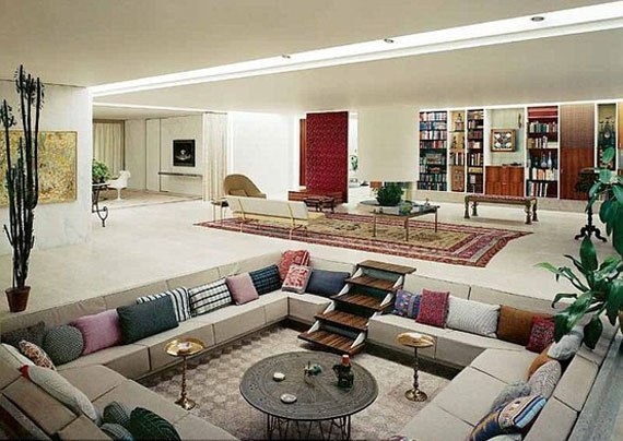 Sunken Living Room Designs: The Perfect Conversation Pits 21