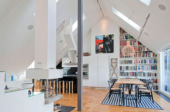 Swedish Style luxurious swedish style attic penthouse located in Östermalm