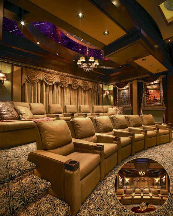 A Showcase Of Really Cool Theatre Room Designs 5
