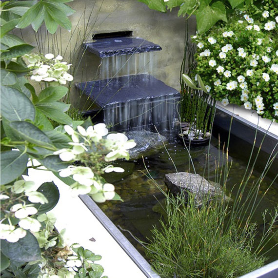 Water Garden Ideas focal point fountain W15 Backyard Ponds And Water Garden Ideas 31 Examples