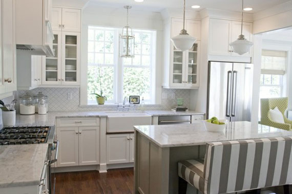 White Kitchens 312 best images about white kitchen cabinets inspiration on pinterest stove white kitchen cabinets and pendants Kit1 White Kitchen Design Ideas To Inspire You 48 Examples