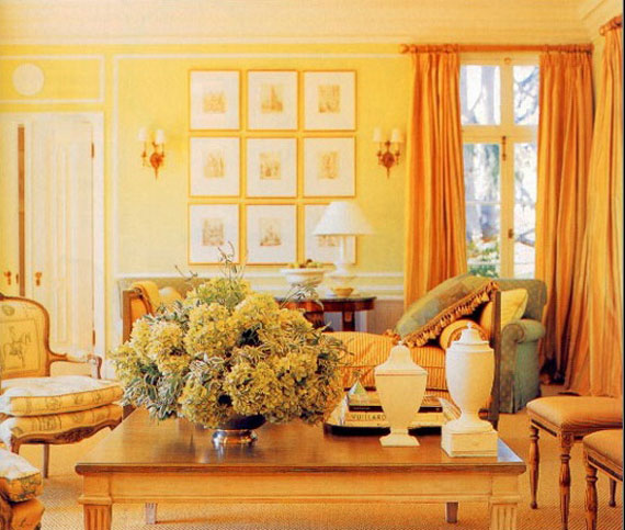 Examples Of Rooms Designed And Decorated With Yellow