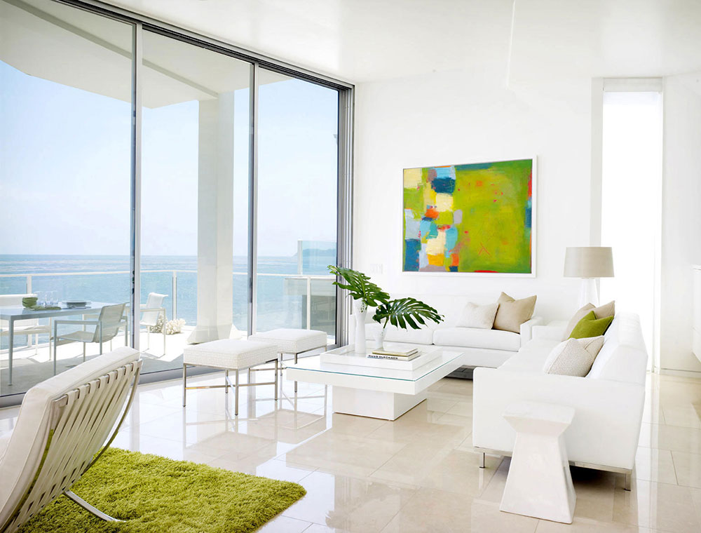 Beach House Interior Design Ideas the living room is pretty but not too stuffy i think thats essential in a beach house notice the views Beach House Interior And Exterior Design Ideas To Inspire You 1