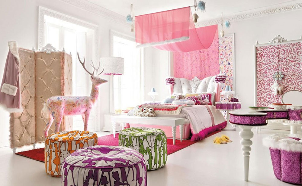 Wall Designs For Girls Room girls room wall decor Colorful Girls Rooms Decorating Ideas 1 Colorful Girls Rooms Design
