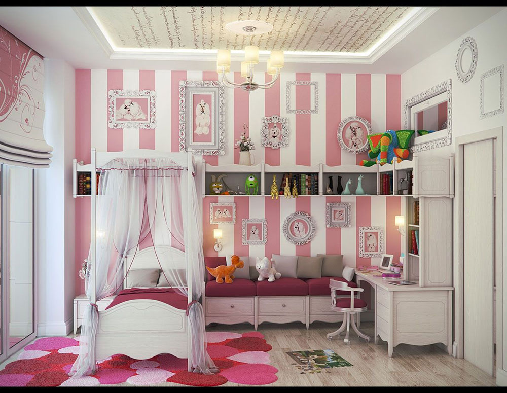 Girls Room Wall Decor colorful girls rooms design & decorating ideas (44 pictures)