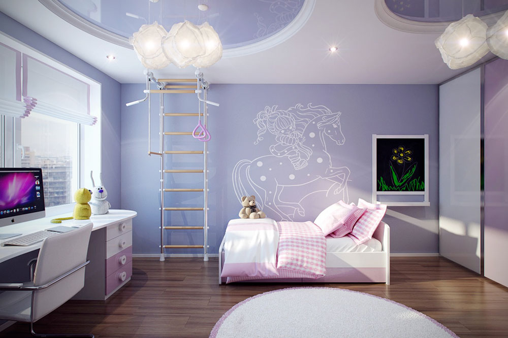 blue bedrooms for girls decorating ideas colorful girls rooms decorating ideas - Ideas Girls Room
