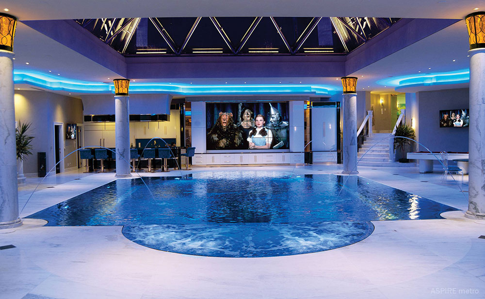 Home indoor pool with bar  Best 46 Indoor Swimming Pool Design Ideas For Your Home