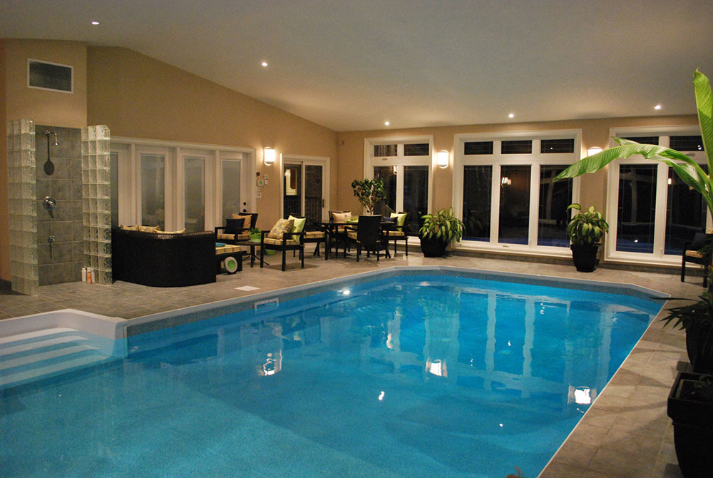 Indoor pool designs house