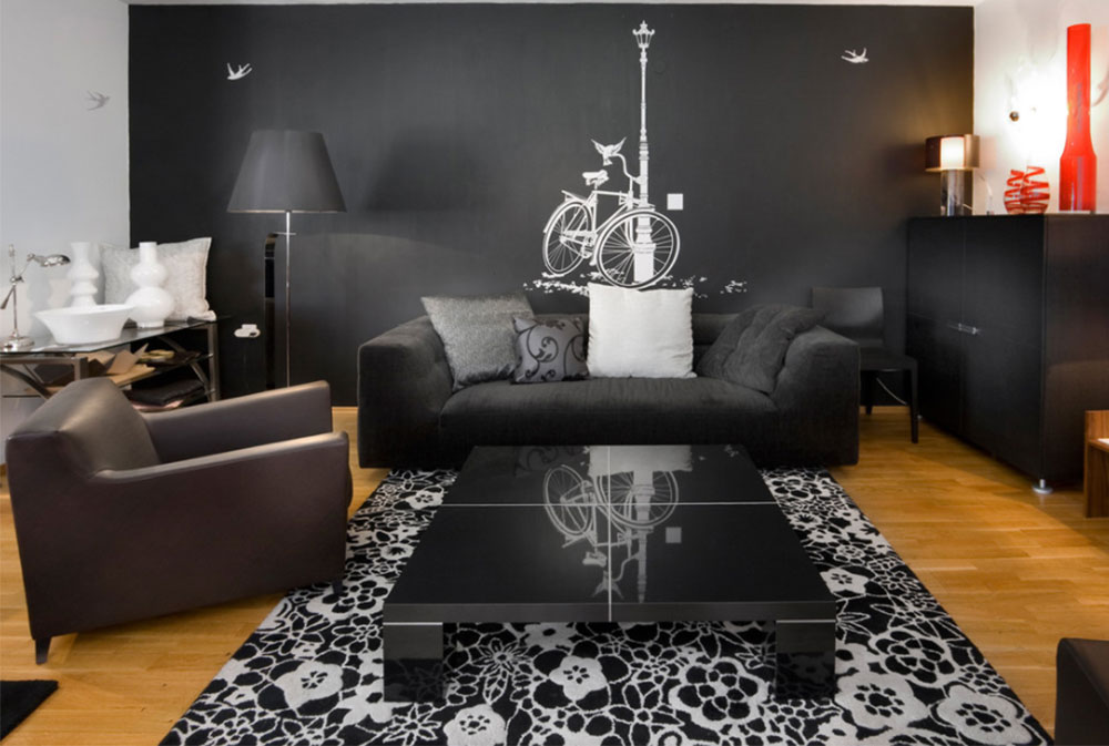 black living room. Living Room by Elad Gonen Black Walls Ideas For Your Modern Interiors  47 Pictures