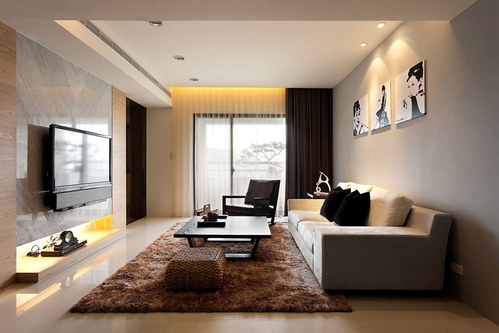 photos of modern living room interior design ideas - Living Room