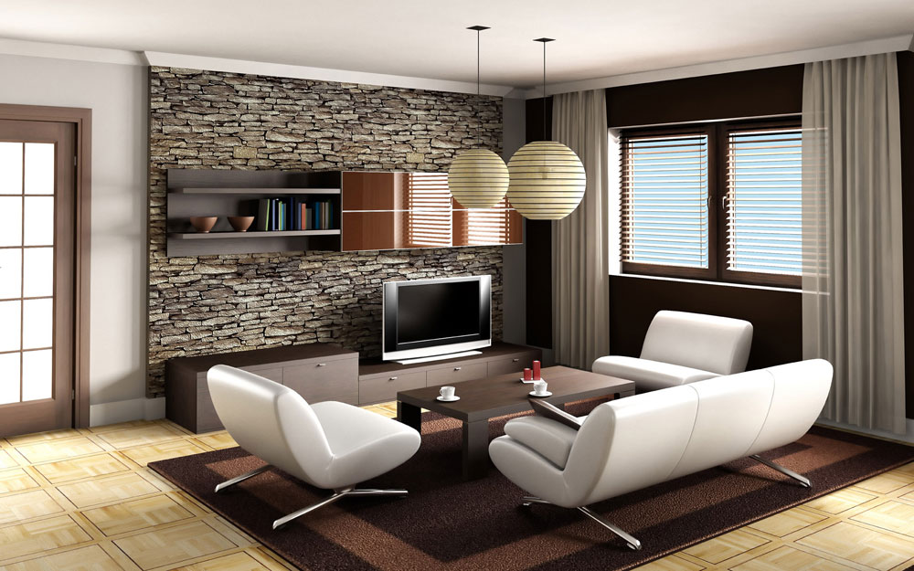 Modern Design Living Room 2 Simple Decoration