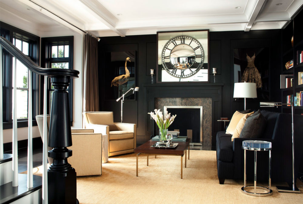 Black Walls Ideas For Your Modern Interiors (47 Pictures)