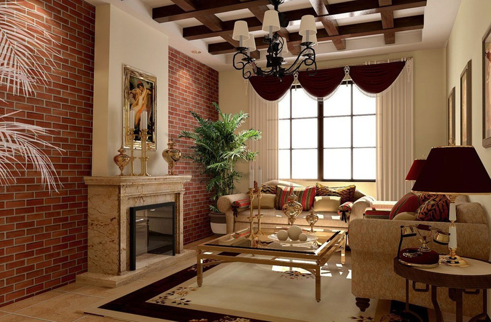brick and stone wall ideas for a house - Wall Interiors Designs
