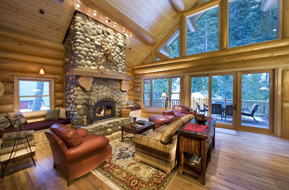 Beautiful Cabin Design Ideas For Inspiration 1 Log Cabin Interior Design: