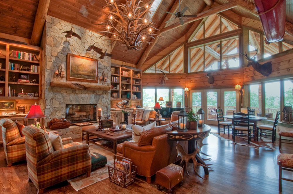 Living Room Decorating Ideas Log Cabin best cabin design ideas (47 cabin decor pictures)