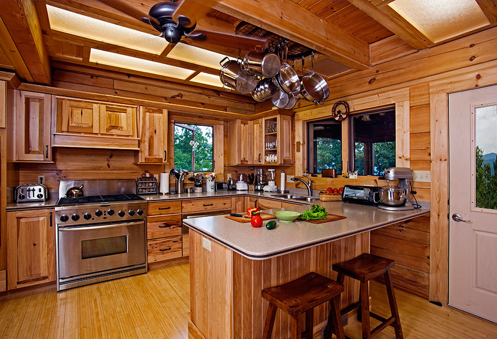 log home kitchen designs log cabin interior design 47 cabin decor ideas 7155