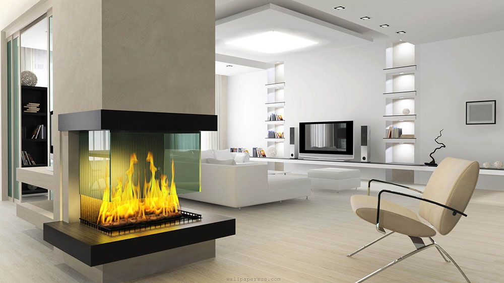 Modern Living Room With Fireplace modern and traditional fireplace design ideas (45 pictures)