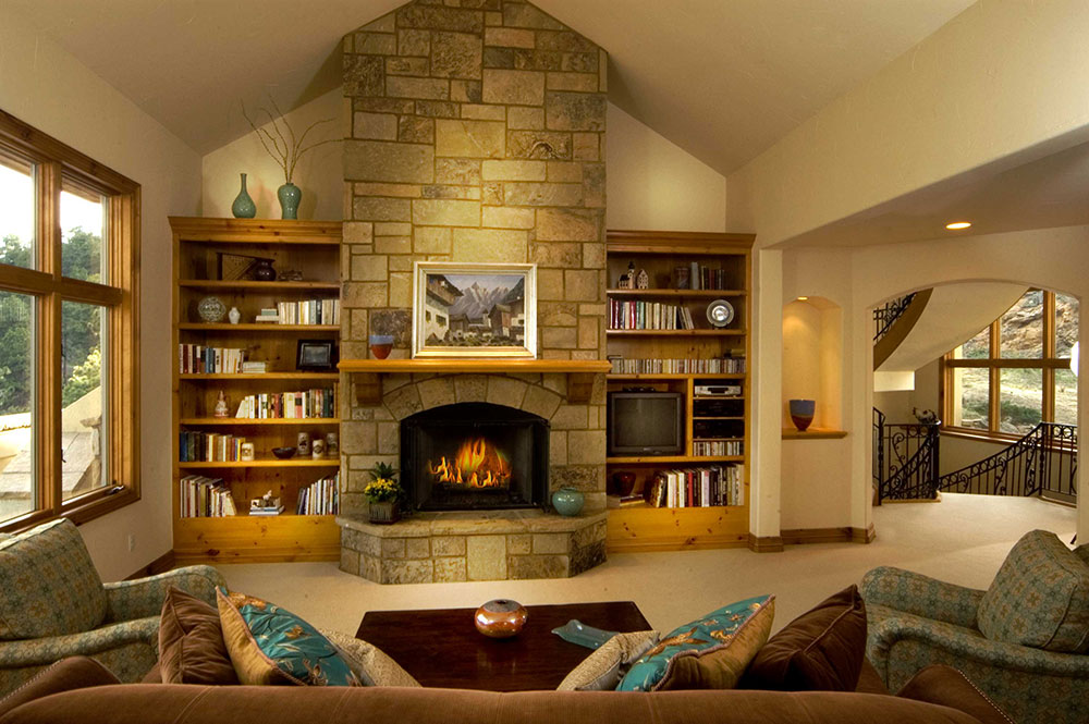 Modest Living Room Fireplace Ideas Painting
