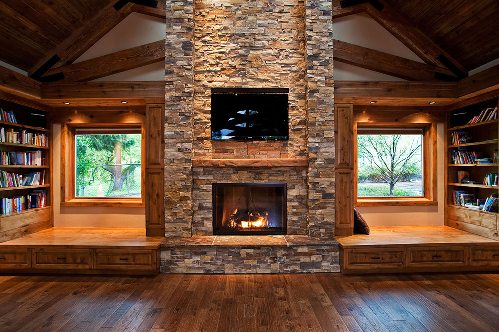 ideas fireplace living stone room for design designs