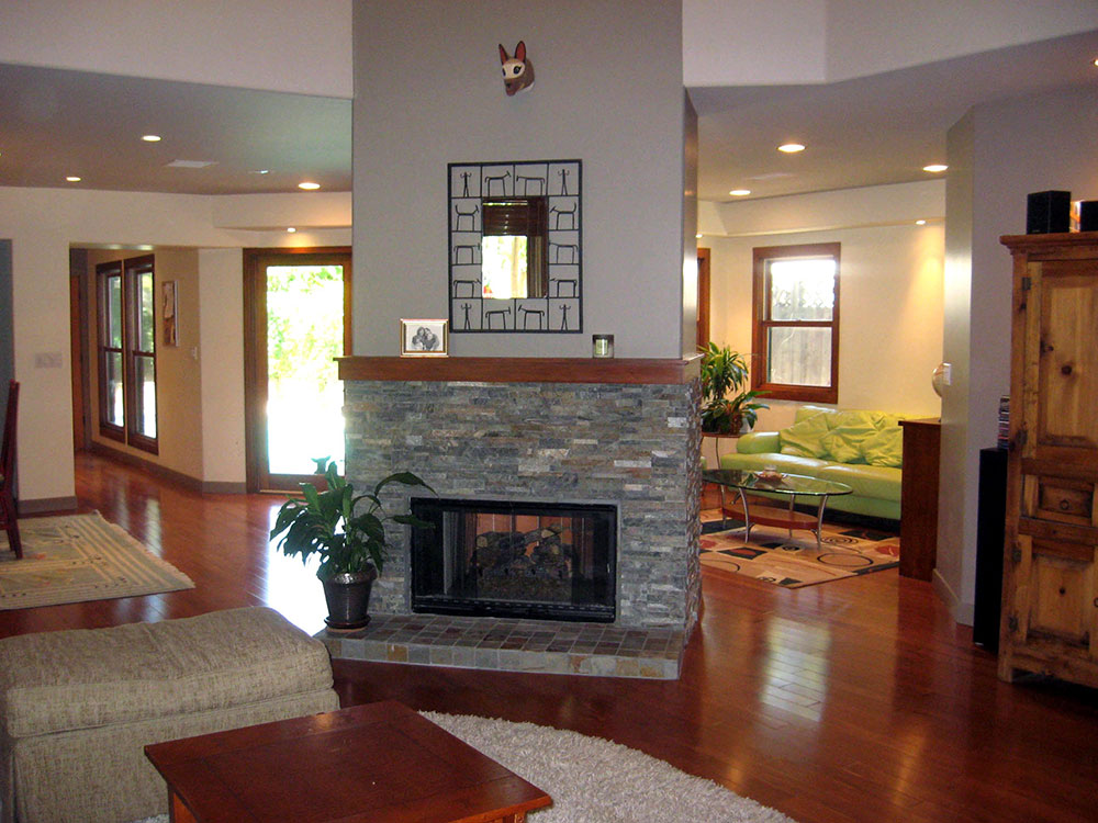 Decorating Family Room With Brick Fireplace