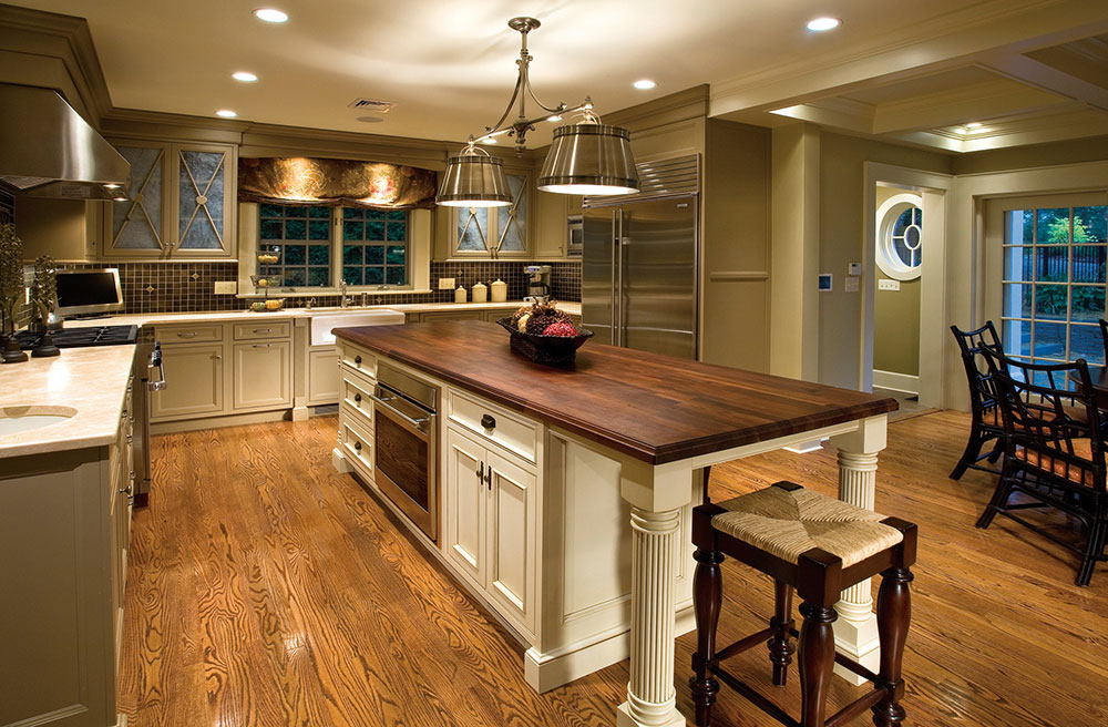 Wide Kitchen Island