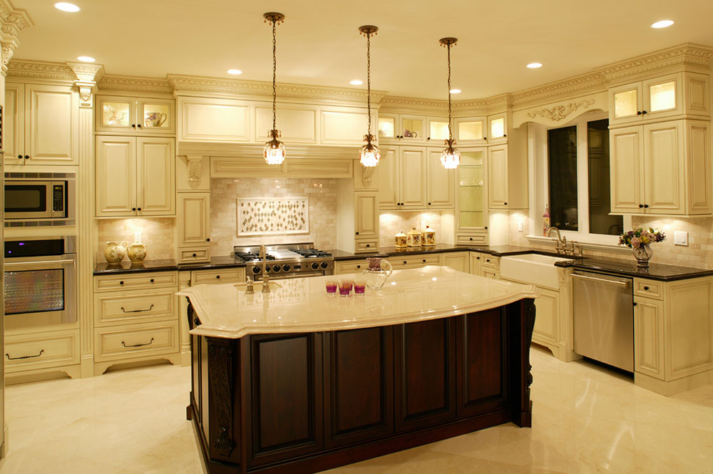Modern And Traditional Kitchen Island
