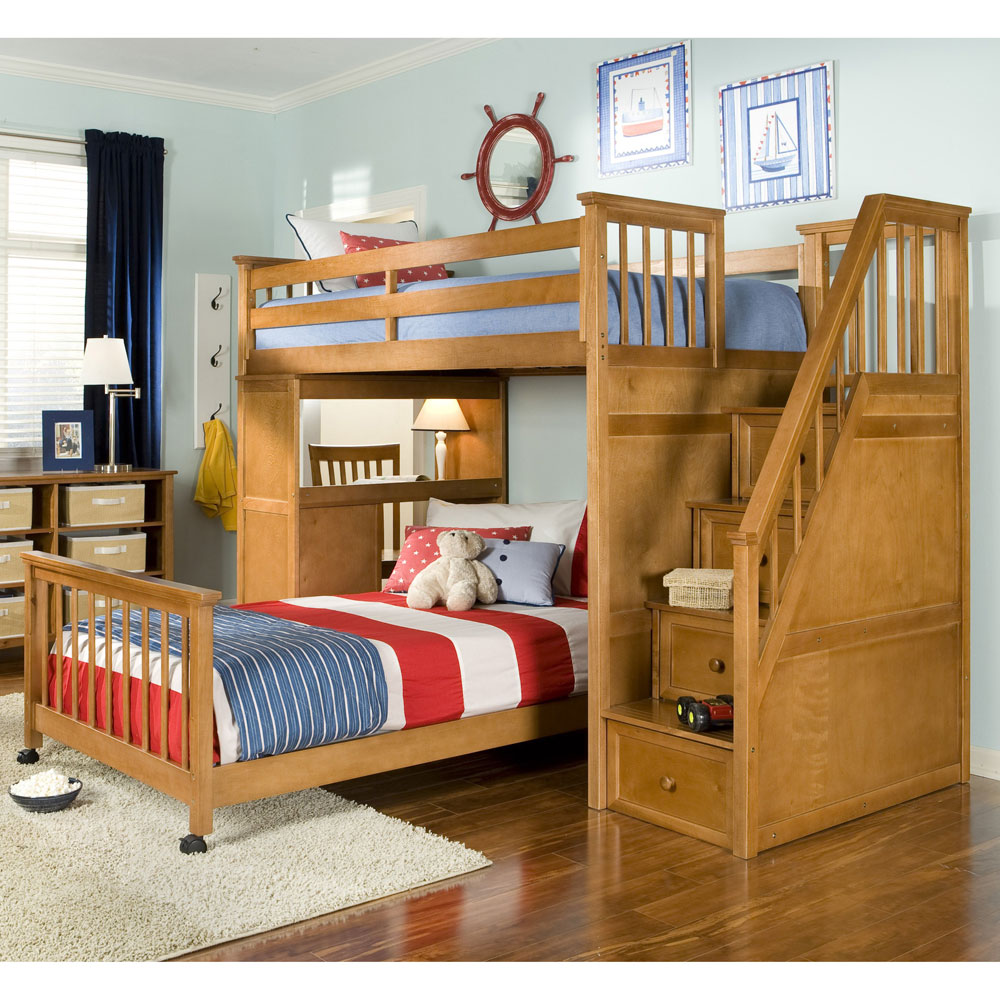 Bunk beds for kids with stairs - Bunk Beds Design Ideas 0