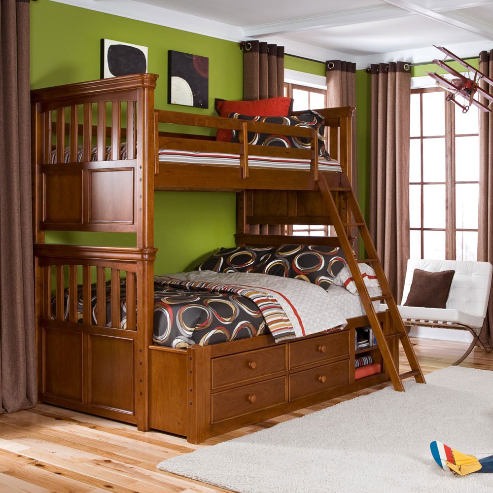 Full Size And Twin Size Bunk Beds