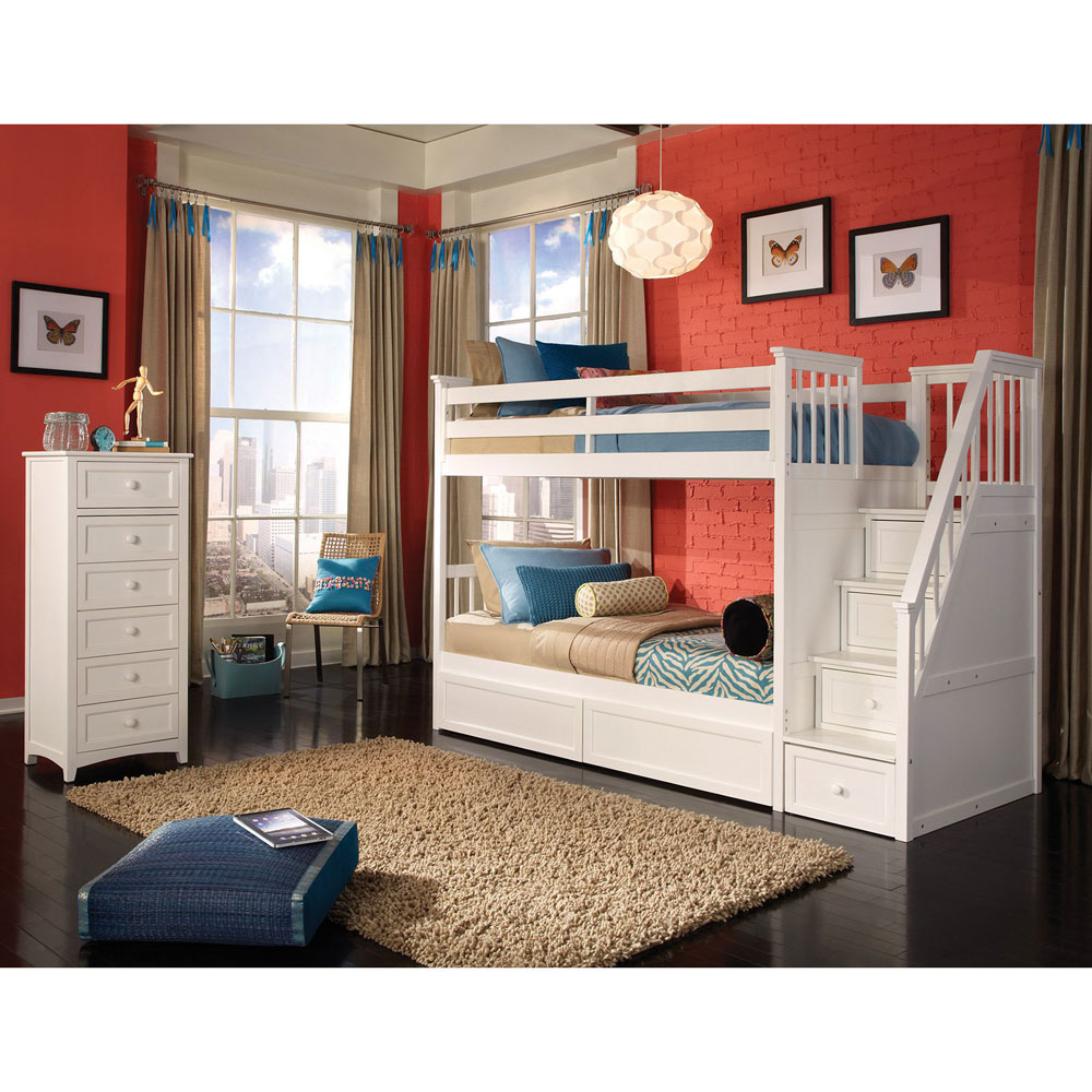 Bunk beds for girls with desk and stairs - Bunk Beds Design Ideas 3