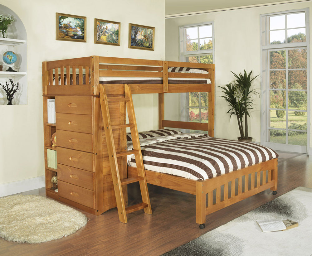 Double bunk beds with slide - Bunk Beds Design Ideas 6