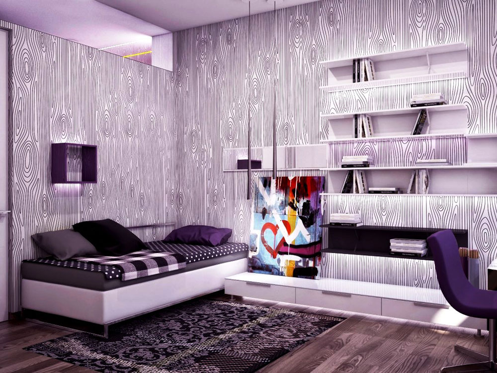 the usage of purple in interior design 4 best