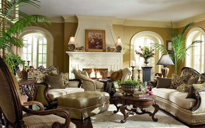 Tropical Living Room Designs From