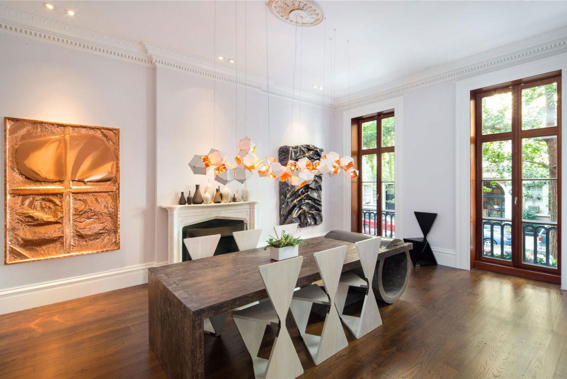 classic new york house in greenwich village with seven fireplaces, Esszimmer dekoo