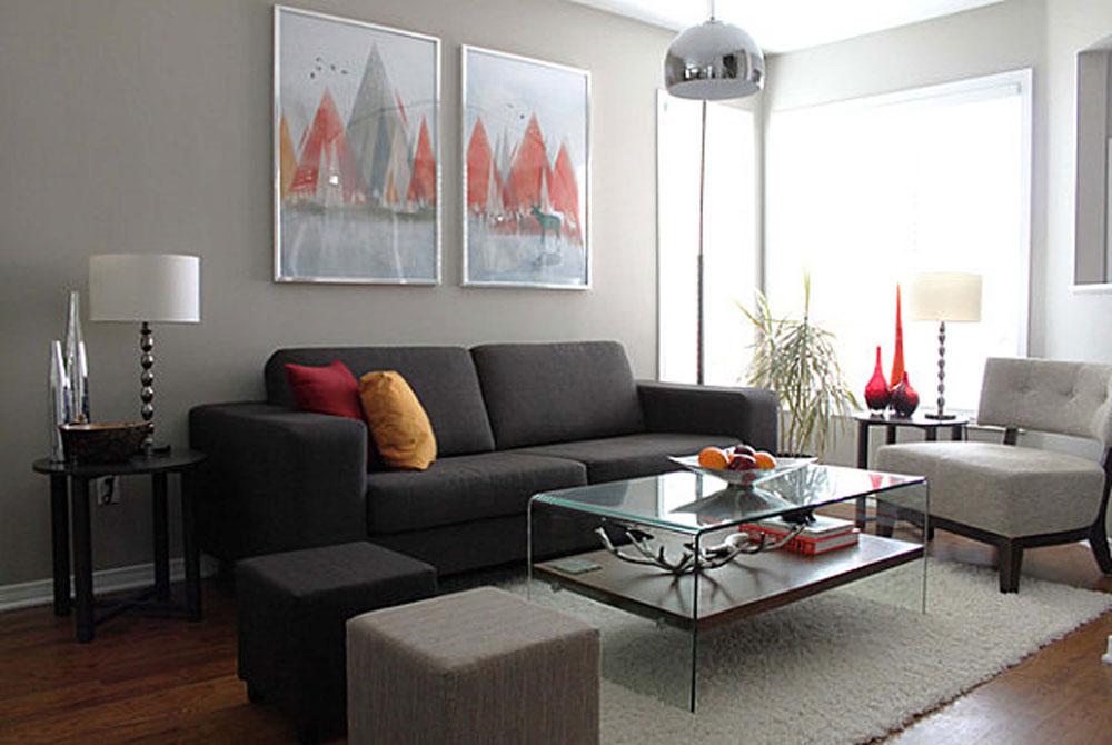 Modern And Sleek Grey Living Room Interior 10