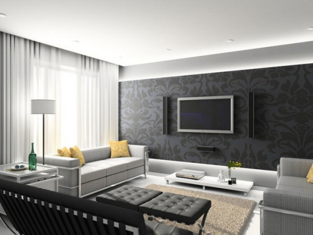 Grey Living Room modern and sleek grey living room interior