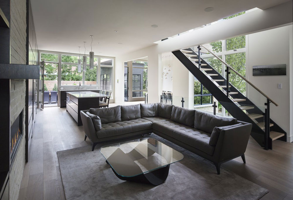 Modern And Sleek Grey Living Room Interior 3