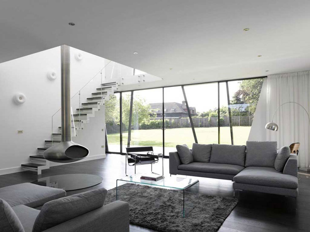 Modern And Sleek Grey Living Room Interior