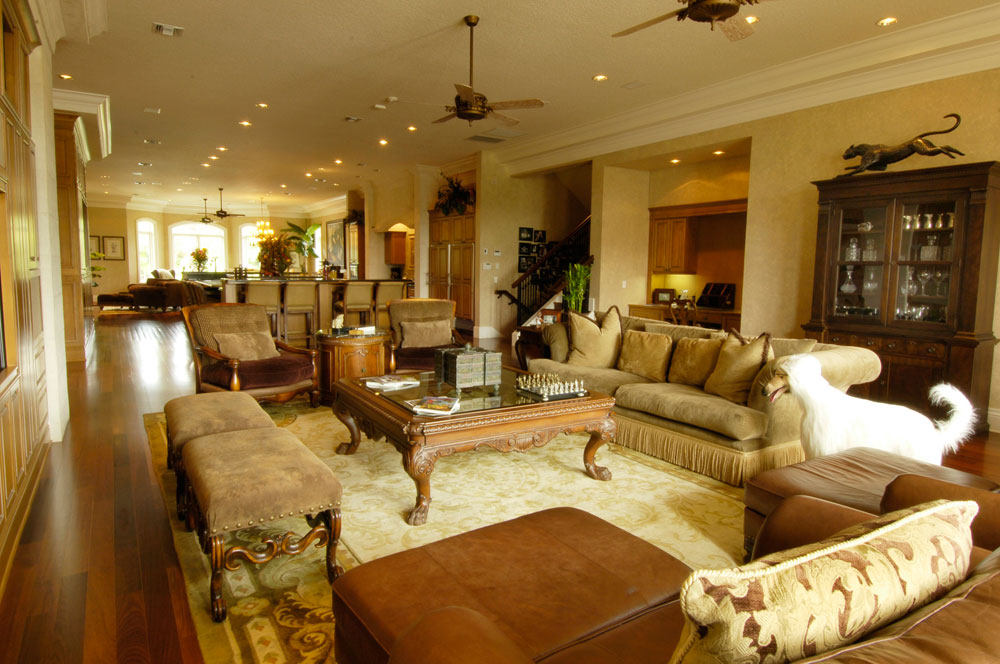 living room and family room combo