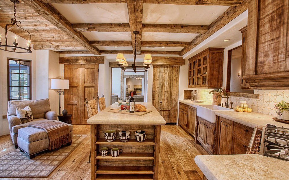warm cozy and inviting rustic kitchen interiors - Rustic Interiors Photos