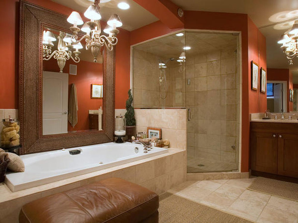 Add Warmth To Your House With Ideas From These Red Bathroom Interiors (1)