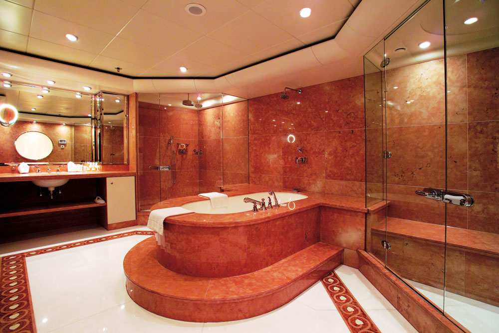 Modest Red Bathroom Minimalist