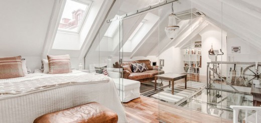 An Elegant Attic Duplex From Sweden (1)