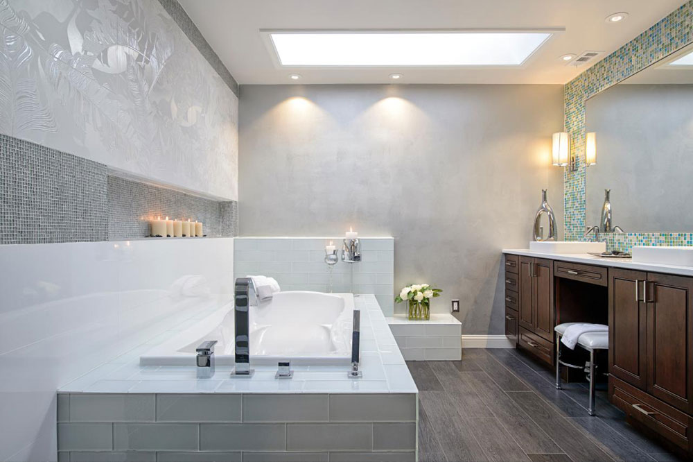Bathrooms With Skylights That Will Make You Reconsider How You ... on zebra design for bathroom, zen design living room, kitchen cabinets for bathroom, zen design furniture, zen design bedroom, zen design kitchen, urban design for bathroom, home design for bathroom,