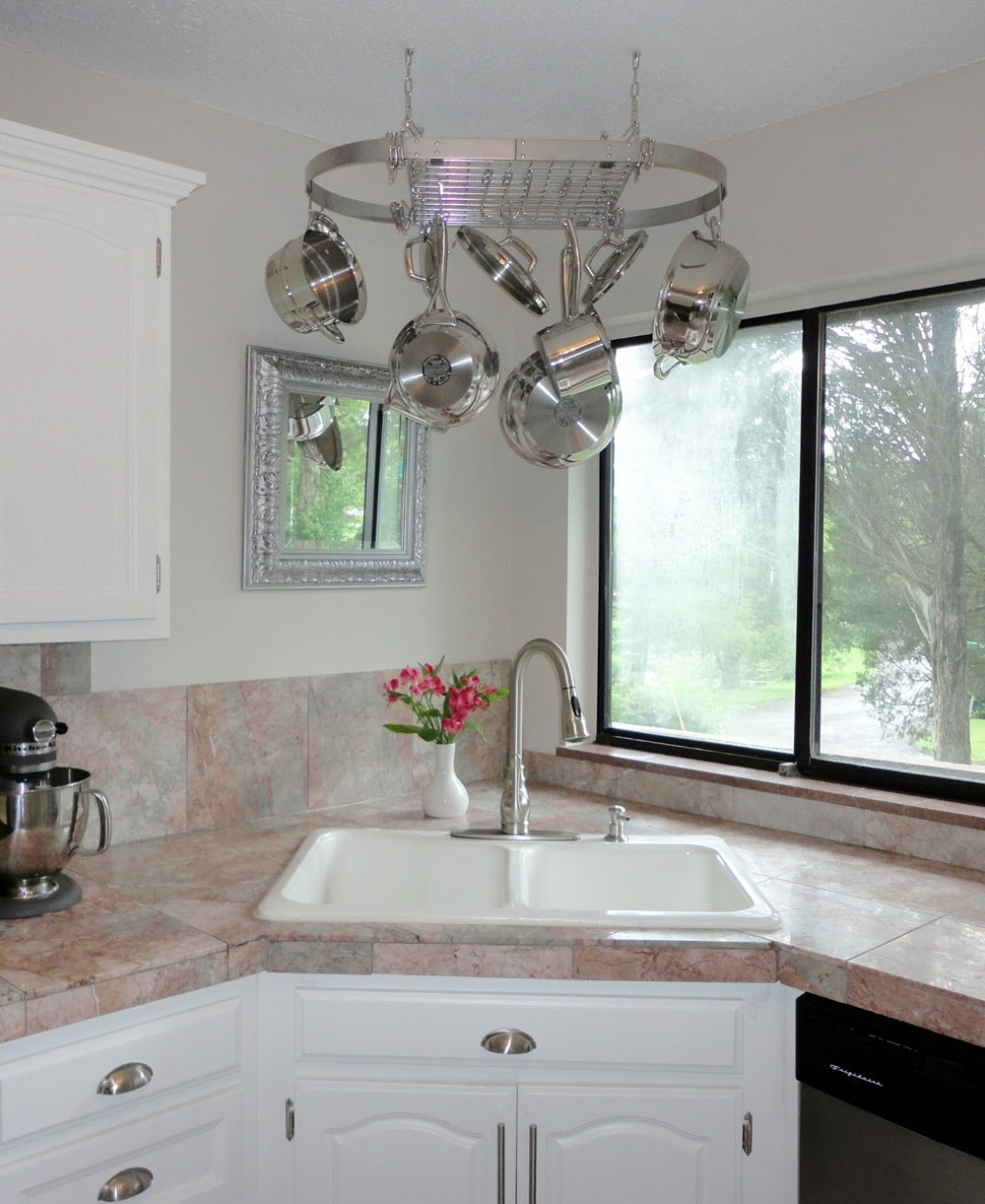 Corner Kitchen Sink Corner Kitchen Sink Design Ideas