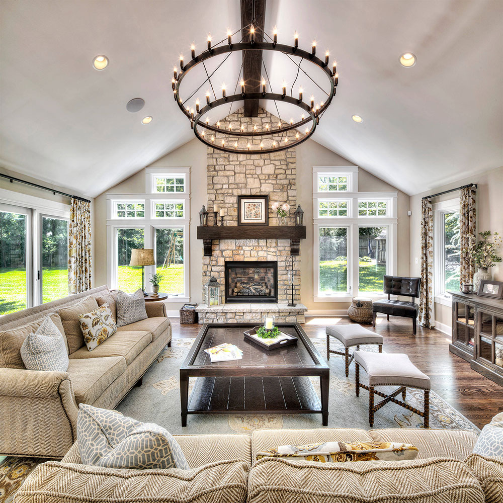 Great Home Addition Vaulted Ceiling Living Room Design Ideas