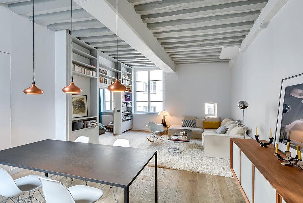 Modern apartment in paris designed by french interior designer