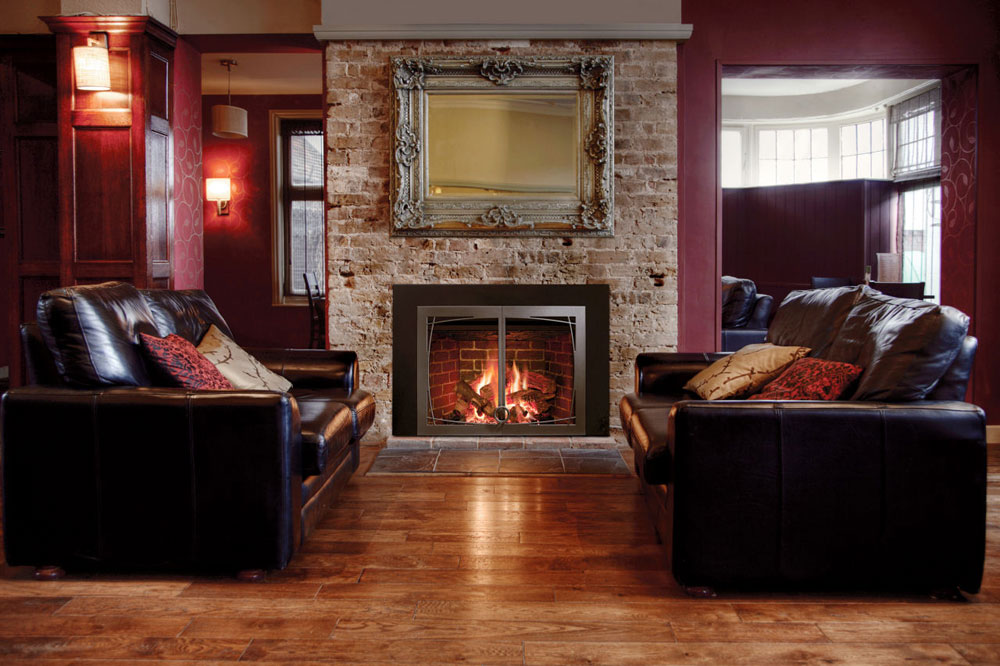 Fireplace Design fireplace scene : Showcase Of Living Room Interior Design With Fireplace