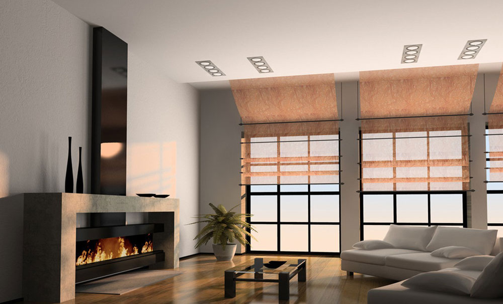 Showcase Of Living Room Interior Design With Fireplace  Part 48