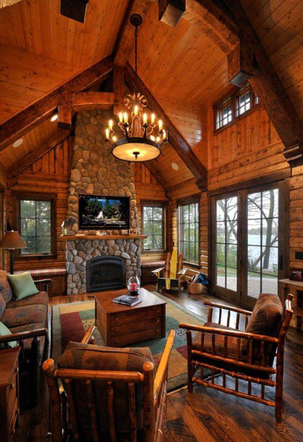 Wooden Furniture Living Room Designs Vaulted Ceiling Living Room Design Ideas